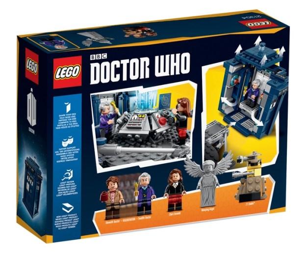 L'arrière de la boite détaillant le contenu (LEGO)