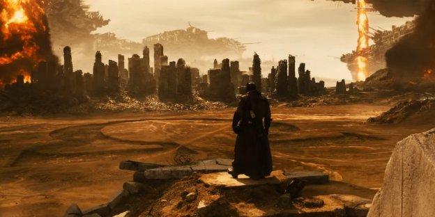Le knightmare apocalyptique avec l'ombre de Darkseid (Warner Bros.)
