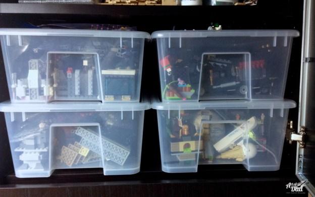 Les bacs sont facile à ranger même dans les placards. Le choix des bacs transparents permet de voir rapidement ce qu'il y a dedans.