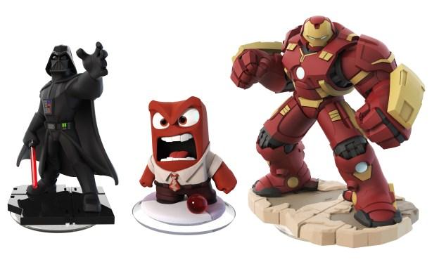 Un exemple de figurines Disney Infinity issu des divers univers.