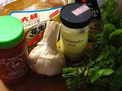 Thai marinade (brinerade?) ingredients