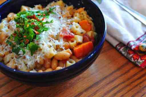 Pressure Cooker Pasta and Bean Soup (Pasta Fazool)