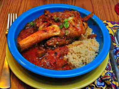 Pressure Cooker Persian Lamb Shanks with Eggplant and Tomatoes (Khoresht Bademjan)