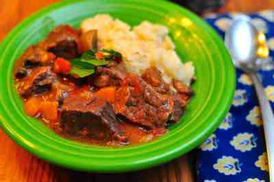 Pressure Cooker Beef Stew with Mushrooms | DadCooksDinner.com
