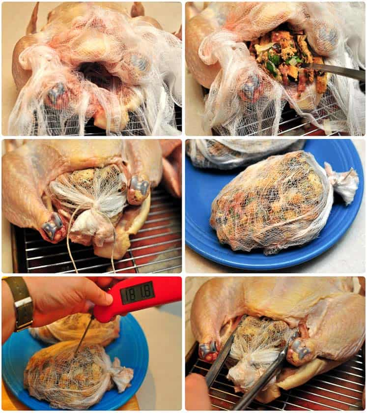 Stuffing a capon for the rotisserie, step by step pictures | DadCooksDinner.com