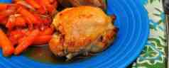 Slow Cooker Braised Chicken Thighs