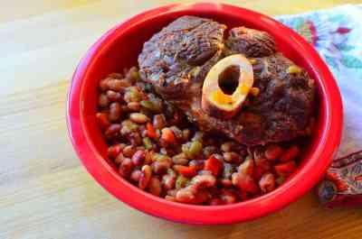 Pressure Cooker Beef Shank and Anasazi Beans | DadCooksDinner.com