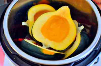 Squash in the cooker - just barely fit