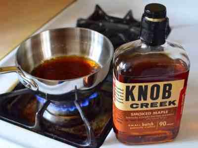 Simmering the Knob Creek Maple Glaze