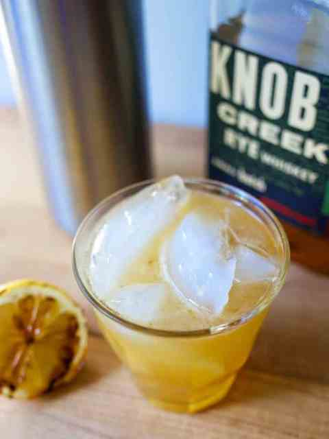 Whiskey Sour with Grilled Lemon