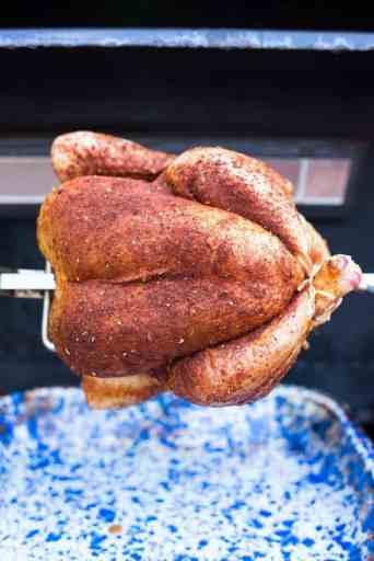 Rotisserie Chicken with Tex-Mex Rub   DadCooksDinner.com