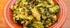 Cast Iron Brussels Sprouts Sauté