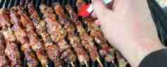 Grilled Pork Tenderloin Skewers with Teriyaki Sauce