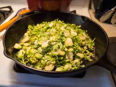 Shaved Brussels Sprouts with Bacon and Honey-1080358