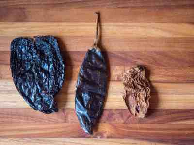 L to R: Ancho, Guajillo, Chipotle