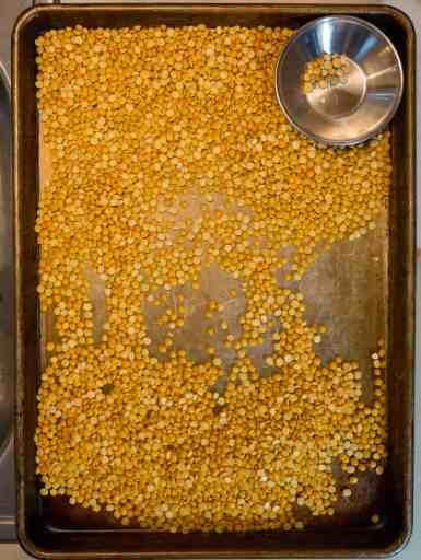 Sorting Yellow Split Peas