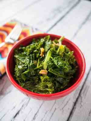 Pressure Cooker Kale with Garlic and Lemon