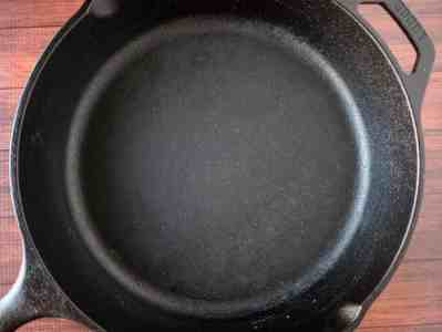 Cast iron needs to be used