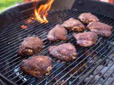 Grill Smoked Chicken Thigh Tacos - DadCooksDinner.com