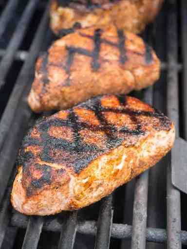 Grilled New York Pork Chops with West Indies Rub | DadCooksDinner.com