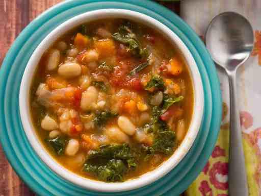 Pressure Cooker Tuscan Bean Soup | DadCooksDinner.com