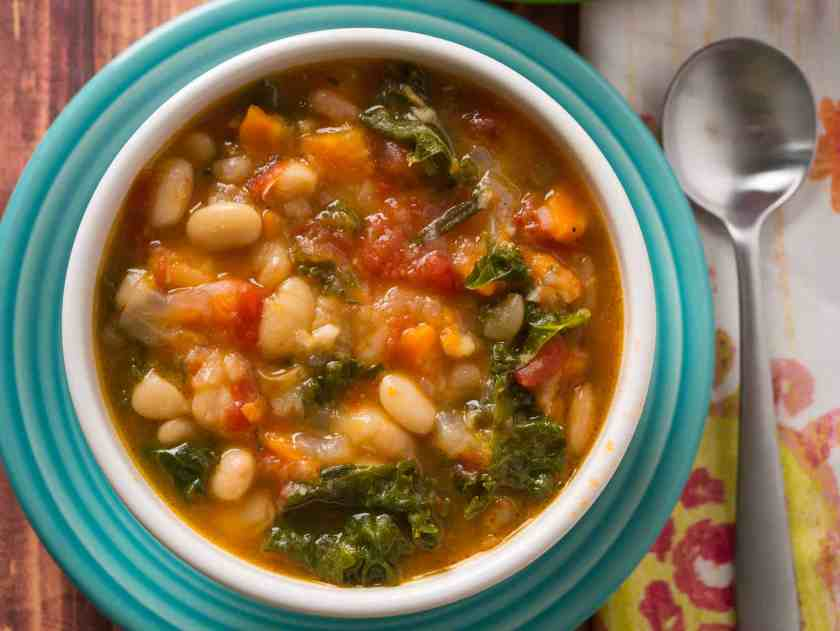 Pressure Cooker Tuscan Bean Soup   DadCooksDinner.com