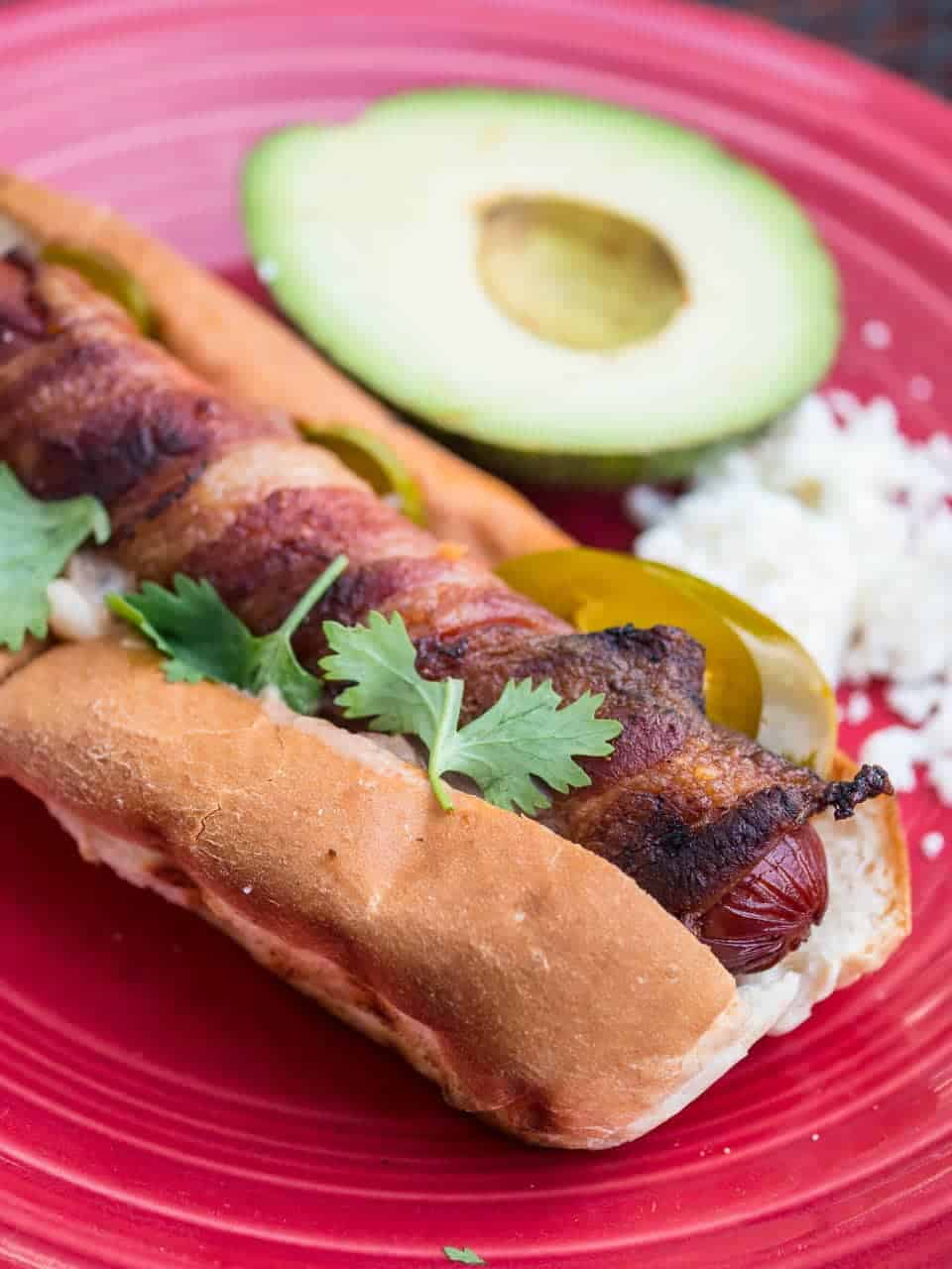 Grilled Mexican Hot Dogs - DadCooksDinner