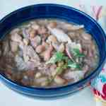 Pressure Cooker Pinto Bean and Turkey Drumstick Soup | DadCooksDinner.com