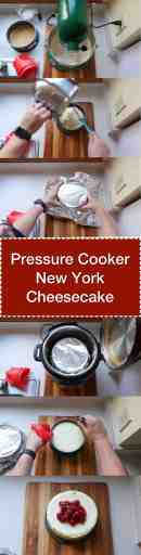 Pressure Cooker New York Cheesecake | DadCooksDinner.com