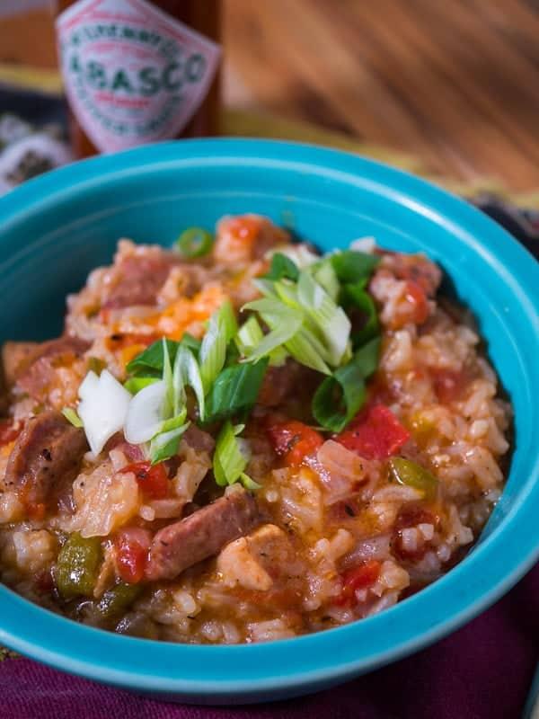 Pressure Cooker Jambalaya with Chicken and Sausage   DadCooksDinner.com