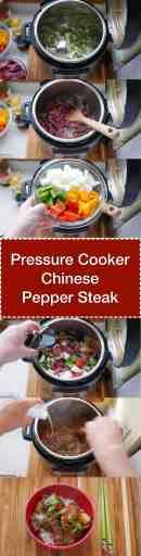Pressure Cooker Chinese Pepper Steak | DadCooksDinner.com