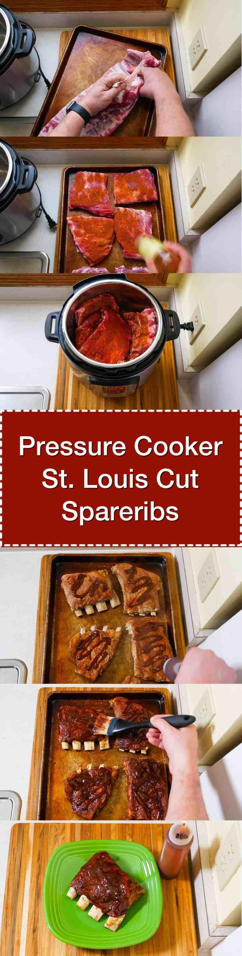 Pressure Cooker St Louis Cut Spareribs | DadCooksDinner.com