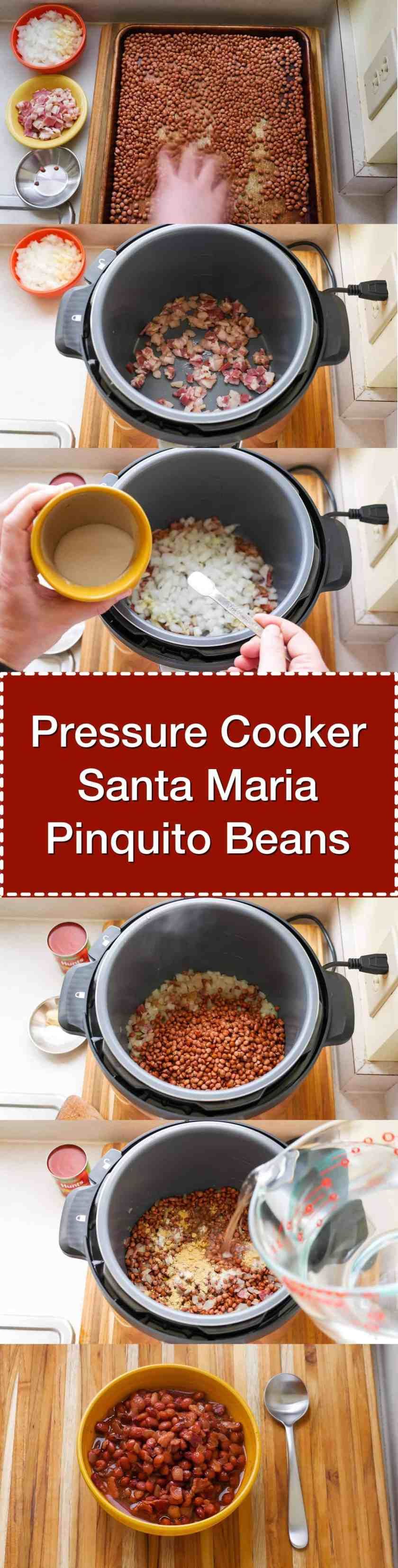 Pressure Cooker Santa Maria Pinquito Beans - Santa Maria style Pinquito Beans, in a little over an hour in the pressure cooker.