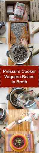 Pressure Cooker Vaquero Beans in Broth - Step by Step Tower | DadCooksDinner.com