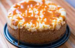 Pressure Cooker Salted Caramel Cheesecake