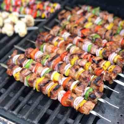 Grilled Beef Sirloin Kabobs | DadCooksDinner.com