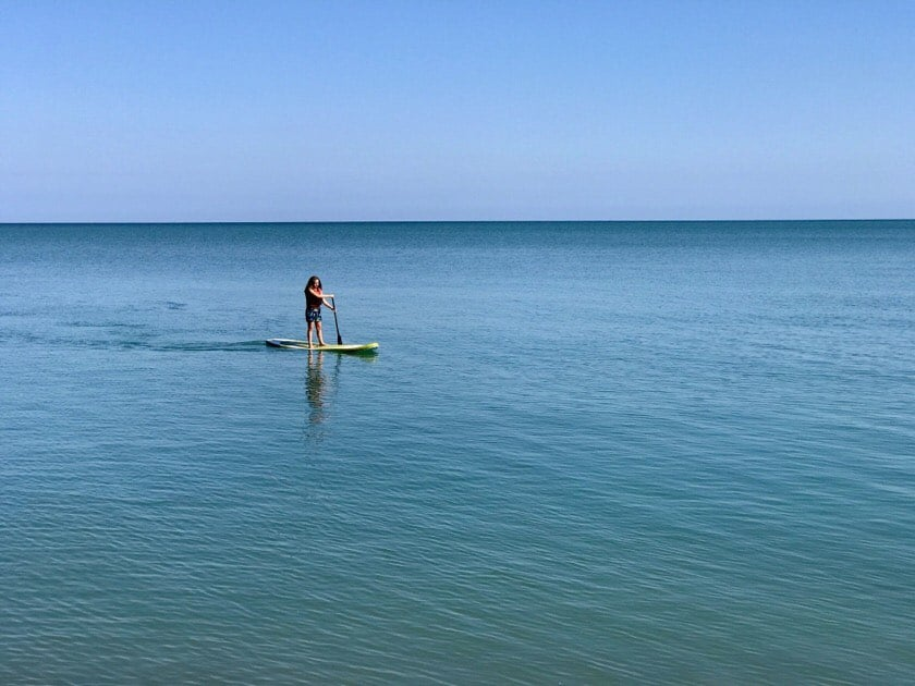 Paddleboarding on Lake Erie | DadCooksDinner.com
