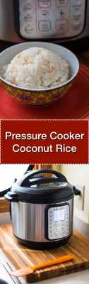 Pressure Cooker Coconut Rice - Tower Image | DadCooksDinner.com