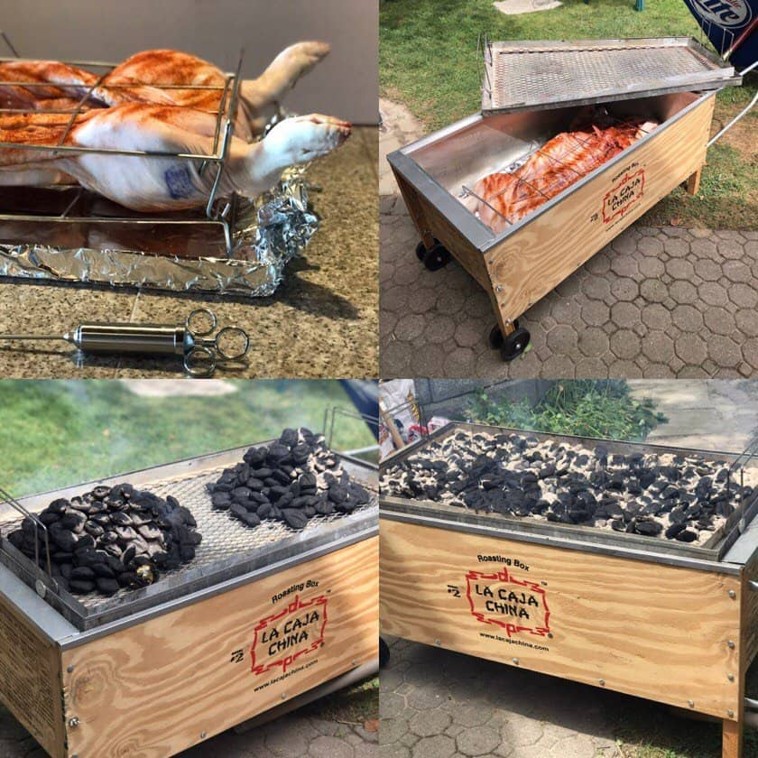 La Caja China Pig Roast - prep steps collage | DadCooksDinner.com
