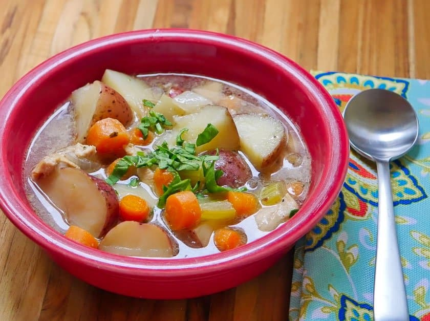 Pressure Cooker Chicken Potato Soup | DadCooksDinner.com