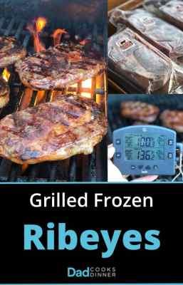 Grilled Frozen Ribeyes Collage | DadCooksDinner.com