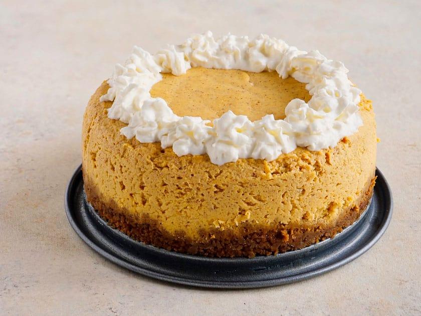 Pressure Cooker Pumpkin Cheesecake   DadCooksDinner.com