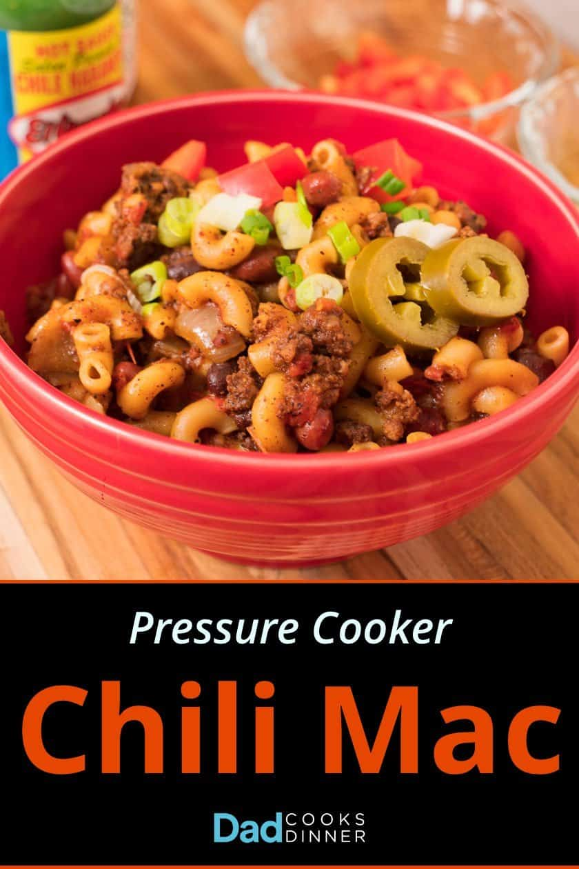 Pressure Cooker Chili Mac - chili and elbow pasta, together in a one-pot pressure cooker meal. | DadCooksDinner.com