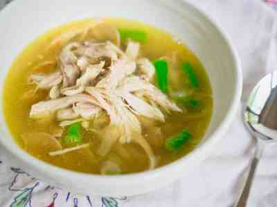 Pressure Cooker Shredded Chicken and Noodle Soup with Vegetables | DadCooksDinner.com