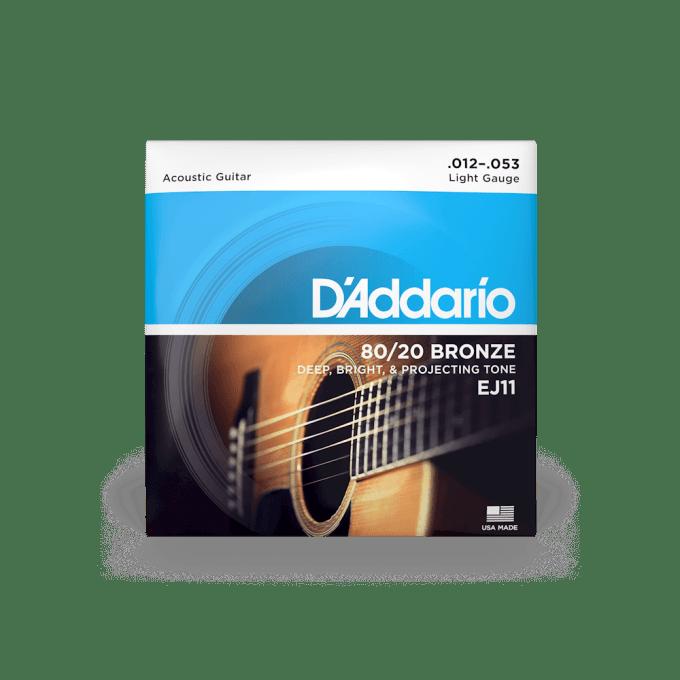 Ej11 80 20 Bronze Acoustic Guitar Strings D Addario