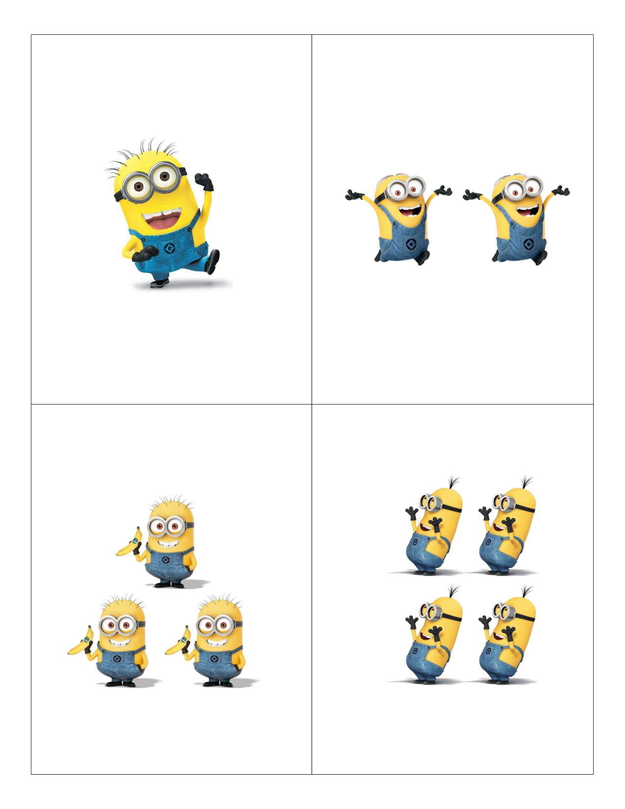 Minions Counting Flashcards Daddy And The City