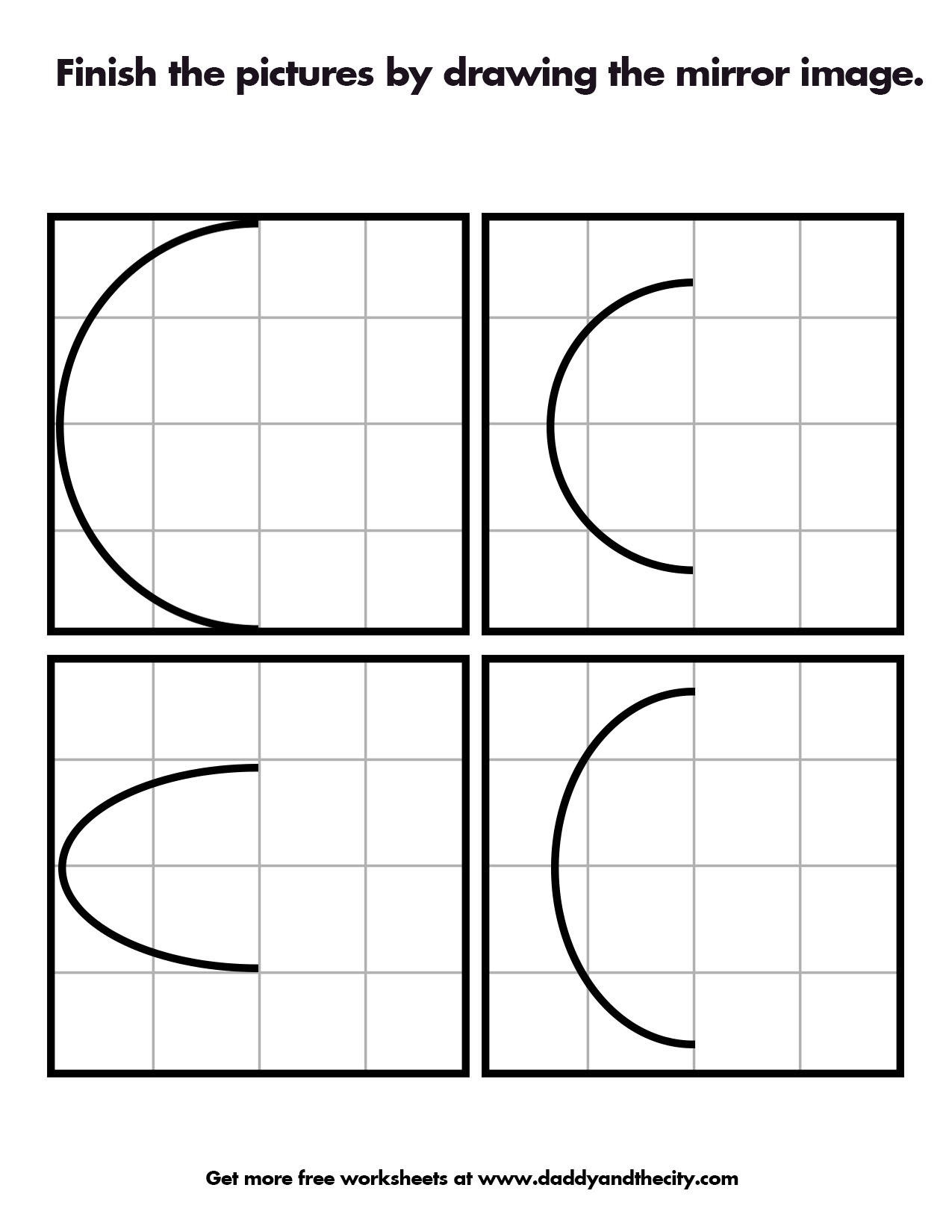 Free Mirror Image Worksheets