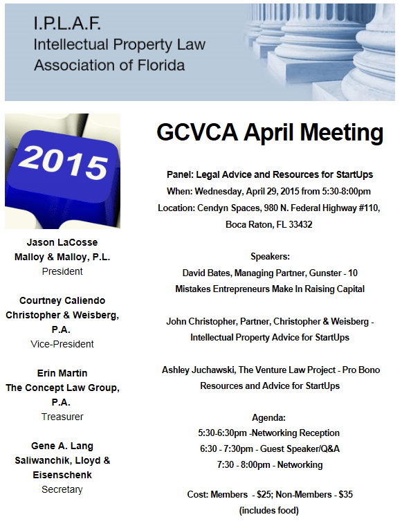GCVCA Flier - April 29