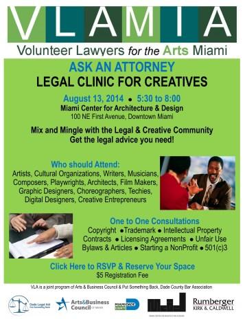VLA -legal clinic invite