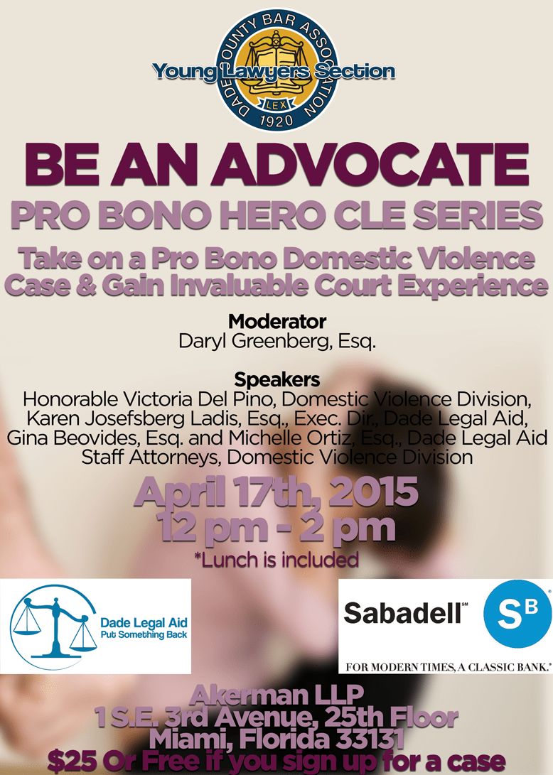 417 Domestic Violence Volunteer Training Dade Legal Aid